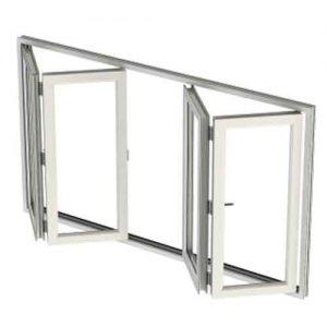 gray bi fold door