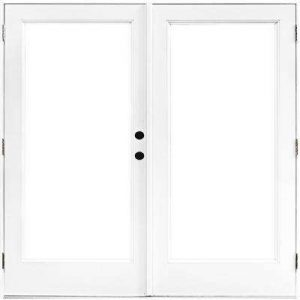 withe double french impact door