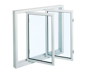 withe fixed casement window