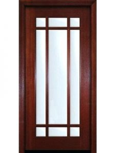 brown single french impact door