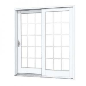 withe sliding glass door