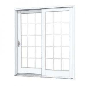 withe sliding glass door